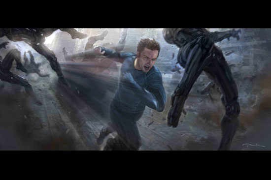 """""""Avengers: Age of Ultron"""" character Quicksilver by Marvel Studios concept artist Andy Park (Courtesy of Marvel Studios/Disney)"""