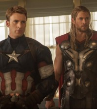 "Captain America (Chris Evans) and Thor (Chris Hemsworth) in the upcoming film ""Avengers: Age of Ultron"" (Courtesy of Marvel Studios/Disney)"