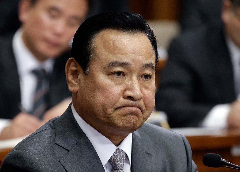South Korea's new Prime Minister nominee Lee Wan-koo offered his resignation on Monday. (AP Photo/Ahn Young-joon)