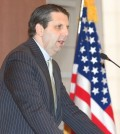 U.S. Ambassador to South Korea Mark Lippert speaks during a defense forum, organized by the state-run Korea Institute for Defense Analyses, at a Seoul hotel on April 15, 2015. (Yonhap)