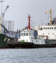 A North Korean freight ship (Yonhap)