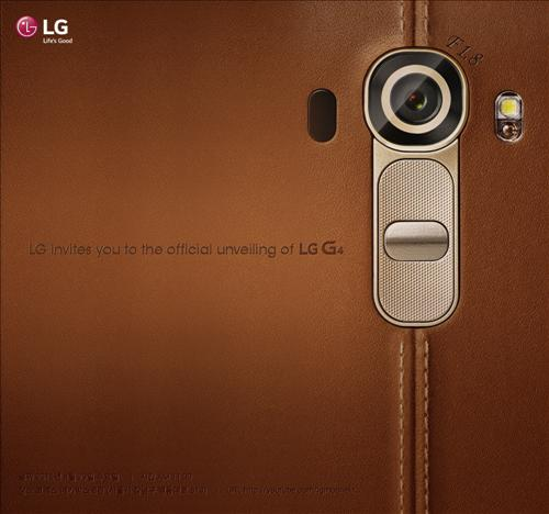 LG Electronics Inc.'s invitation shows key features of the G4 smartphone, including an F1.8 aperture camera. (Photo courtesy of LG Electronics)