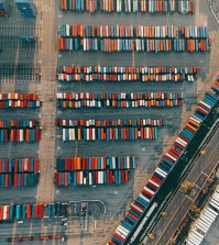 rows of cargo containers. Fun fact: the Los Angeles and Long Beach ports handle about 40 percent of cargo for the entire country. (Courtesy of Dirk Dallas via Flickr/Creative Commons)