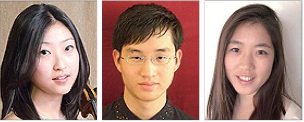 Left to right: Sydney Lee, Sang Bin Park, Jennifer Choi