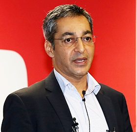 Gautam Anand, a content and operation director at YouTube, speaks at a press event celebrating its 10th anniversary this year at Google Korea's office in Seoul, Tuesday. (Yonhap)