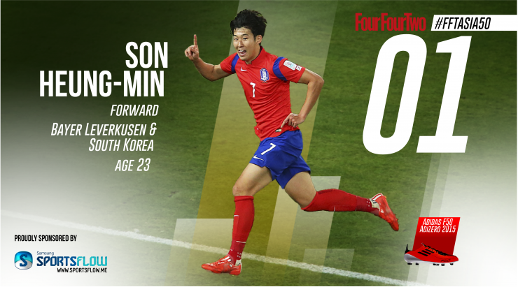 A screen capture of the football magazine FourFourTwo website shows Son Heung-min named as No. 1 Asian player. (Yonhap)