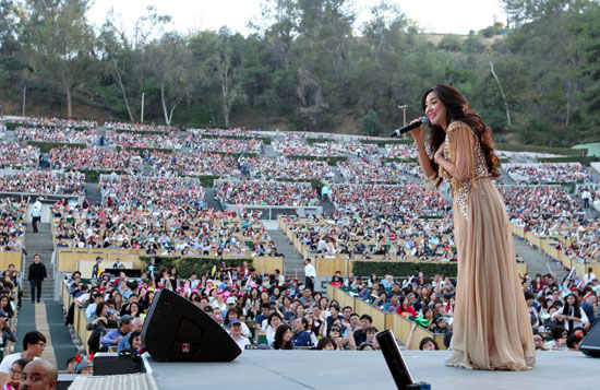 Bada performs at the Hollywood Bowl for the 13th Korea Times Music Festival May 2, 2015. (Korea Times)