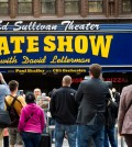 "Fans wait outside The Ed Sullivan Theater during the last taping of the ""Late Show with David Letterman"" on Wednesday, May 20, 2015, in New York. (Photo by Charles Sykes/Invision/AP)"