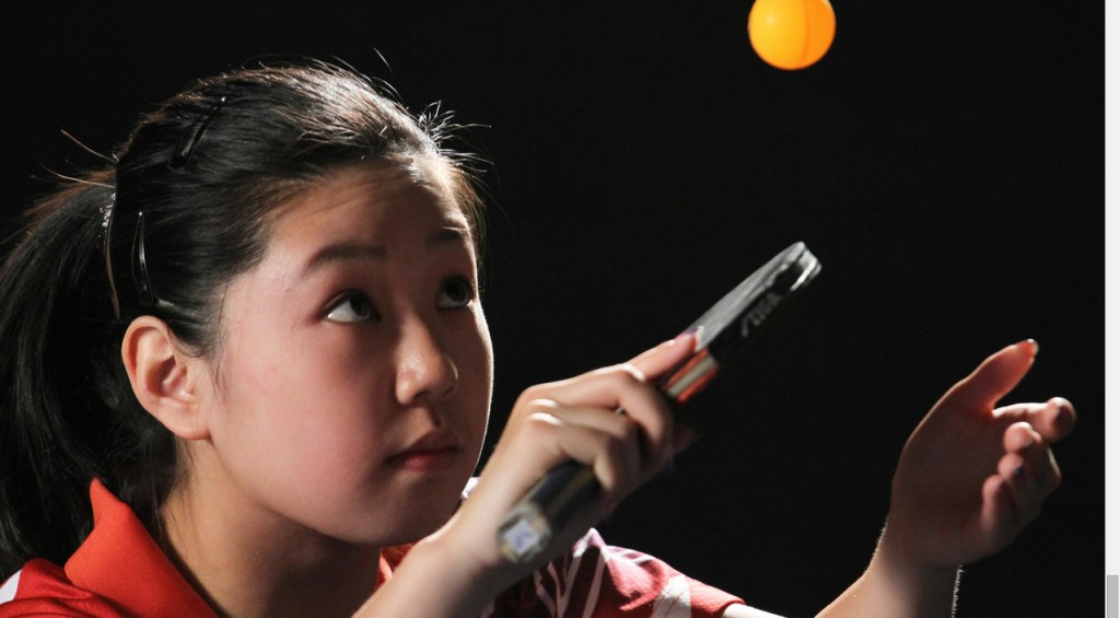 """Lily Zhang in """"Top Spin"""" (Photo courtesy of """"Top Spin"""")"""