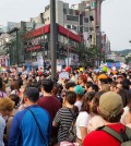 LGBT pride parade in South Korea on June 7, 2014. (Courtesy of Cezzie901 via Flickr/Creative Commons)