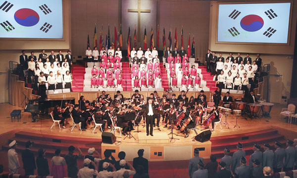 A Korean War commemoration and peace concert was held inside Promise Church in Flushing, N.Y., Saturday.