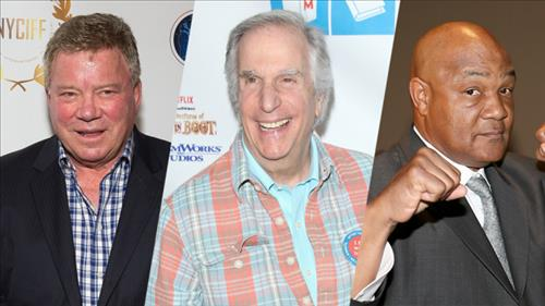William Shatner, Henry Winkler, George Foreman (Yonhap)