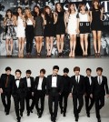 Girls' Generation, top, and Super Junior.