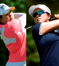 It looks like Women's PGA Championship will come down to a dual between Inbee Park, left, and Kim Sei Young. (AP photos)
