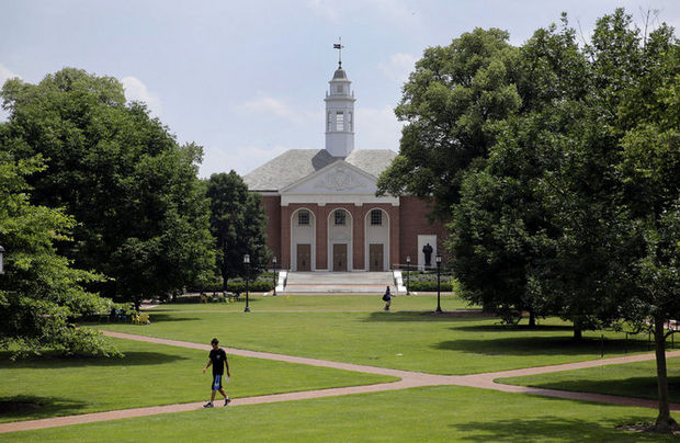 "Many of the nation's elite universities practice what is called ""holistic admissions."" Above, Johns Hopkins University in Baltimore, Md.  (Patrick Semansky / Associated Press)"