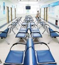 The waiting room at a children's hospital in Seoul is empty, Thursday, as people are reluctant to visit medical facilities after many patients with Middle East Respiratory Syndrome (MERS) were infected while staying at them. (Yonhap)
