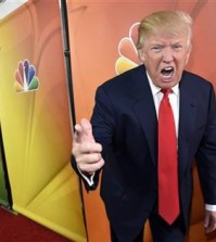 "FILE - In this Jan. 16, 2015 file photo, Donald Trump, host of the television series ""The Celebrity Apprentice,"" mugs for photographers at the NBC 2015 Winter TCA Press Tour in Pasadena, Calif. NBC on Monday, June 29, 2015 said that it is ending its business relationship with Trump, now a Republican presidential candidate, because of comments he made about immigrants during the announcement of his campaign. (Photo by Chris Pizzello/Invision/AP, File)"
