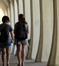 San Diego's large Asian American population is debunking the model minority myth according to a new report. Students at San Diego State University students walk on campus in San Diego. (AP)