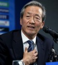 Chung Mong-joon, former FIFA vice president, speaks at a press conference in Seoul on June 3, 2015, discussing the corruption scandal that has marred the top football organization. (Yonhap)