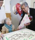 Song Choon-hwa, 106, celebrated her birthday in February 2015.