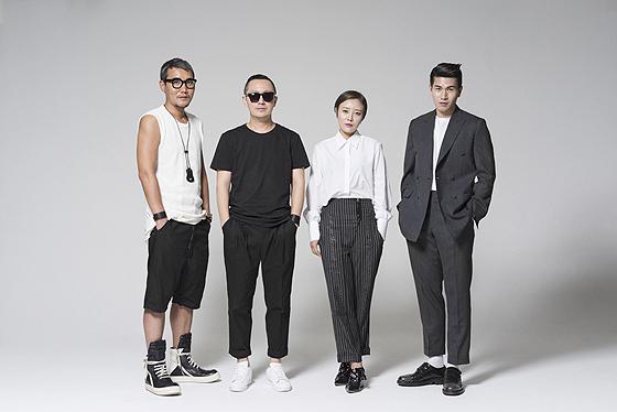 Concept Korea designers Kang Dong-jun, Lee Seok-tae, Lee Ji-yeon, Jang Hyung-chul (Photo courtesy of Concept Korea)