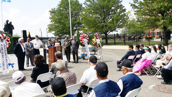 The New Jersey Korean Veterans War Memorial saw its second opening ceremony in 14 years Monday.