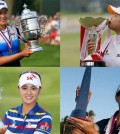 Clockwise from top left, In Gee Chun, Inbee Park, Na Yeon Choi and Sei Young Kim have all took part in the 10 LPGA Tour wins by South Korean players so far in the 2015 season. (AP Photos)