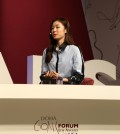 Yuna Kim, Special Olympics ambassador, spoke to a crowd of about 700 inside the Marriott Hotel Monday for the Doha GOALS Forum.