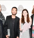 Siki Im, second from left, and Tanya Taylor, second from right, won the U.S. regionals of the International Woolmark Prize. (Photo courtesy of BFA)