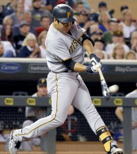 Pittsburgh Pirates' Jung Ho Kang hits a solo home run off Minnesota Twins relief pitcher Glen Perkins during the ninth inning of a baseball game in Minneapolis, Tuesday, July 28, 2015. The Pirates won 8-7. (AP Photo/Ann Heisenfelt)