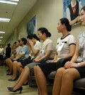 Job applicants wait for their interview in this file photo. (Korea Times file)