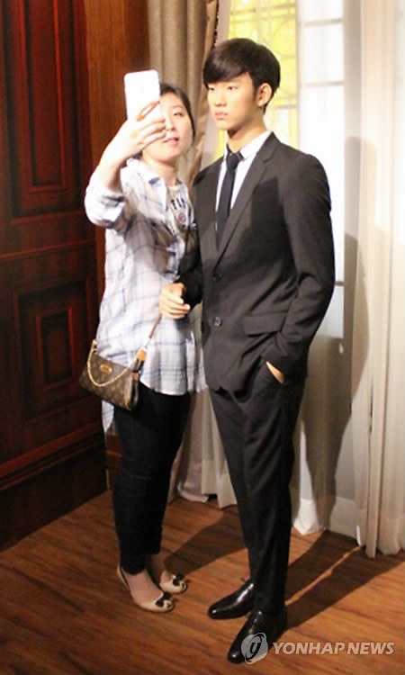 There's already one at Madam Tussauds Hong Kong. (Yonhap)
