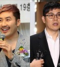 Noh Hong-chul, left, and Kim Yong-man, right, are FNC Entertainment's newest talents (Yonhap)