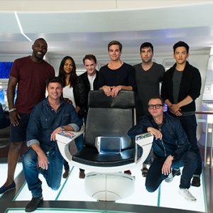 """The """"Star Trek"""" cast poses for its latest fundraiser. (Paramount Pictures)"""