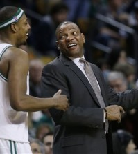 Paul Pierce, left, and Doc Rivers are together again. (AP file)