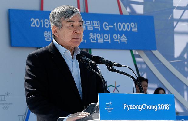 Cho Yang-ho, president of the Pyeongchang 2018 Winter Olympics Organizing Committee. (AP Photo/Ahn Young-joon)