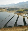 A field of panels at a solar farm (Yonhap)
