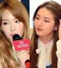 Taeyeon, left, and Suzy. (Newsis)