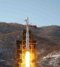 The Unha-3 (Milky Way 3) rocket carrying the second version of Kwangmyongsong-3 satellite, is launched at West Sea Satellite Launch Site in Cholsan county, North Pyongan province, December 12, 2012 in this picture released by the North's KCNA news agency in Pyongyang early December 14, 2012. (Yonhap/KCNA)