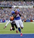 Bills wide receiver Marquise Goodwin catches a touchdown pass against the Bengals. (AP file)