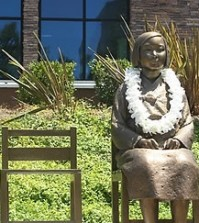 Comfort women Korean girl statue in Glendale, California