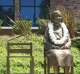 The comfort women Korean girl statue in Glendale, California