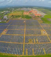 Cochin International Airport boasts 46,000 solar panels spread across 45 acres of land. (Courtesy of Cochin International Airport Limited)