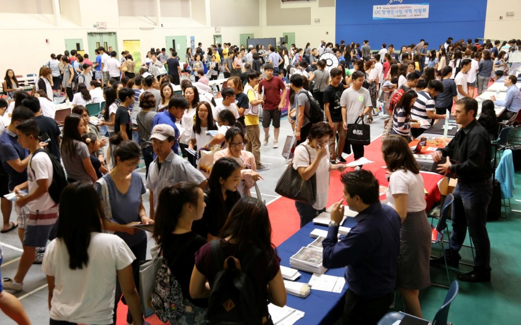 Information booths, lectures and an analysis of the new SAT through practice test review were main draws.