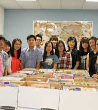 Korean American student organization Shakespeare For All donated 1,300 books and $1,000 to YNOT's L.O.V.E. Library project in late July.