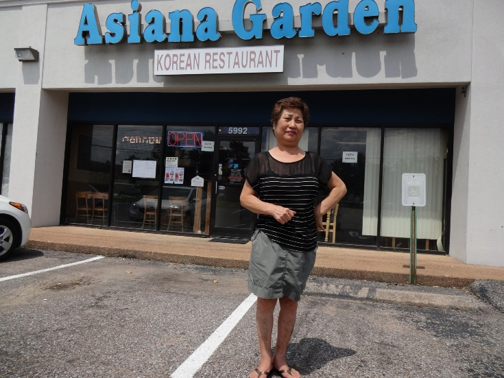 Lee Sun-ok, 65, moved from Los Angeles 20 years ago to open Memphis's first Korean restaurant.