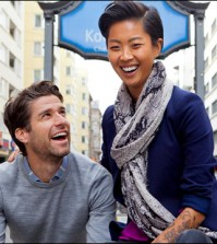 "Kyle Martino, left, and Kristen Kish, right, host ""36 Hours"" on Travel Channel."