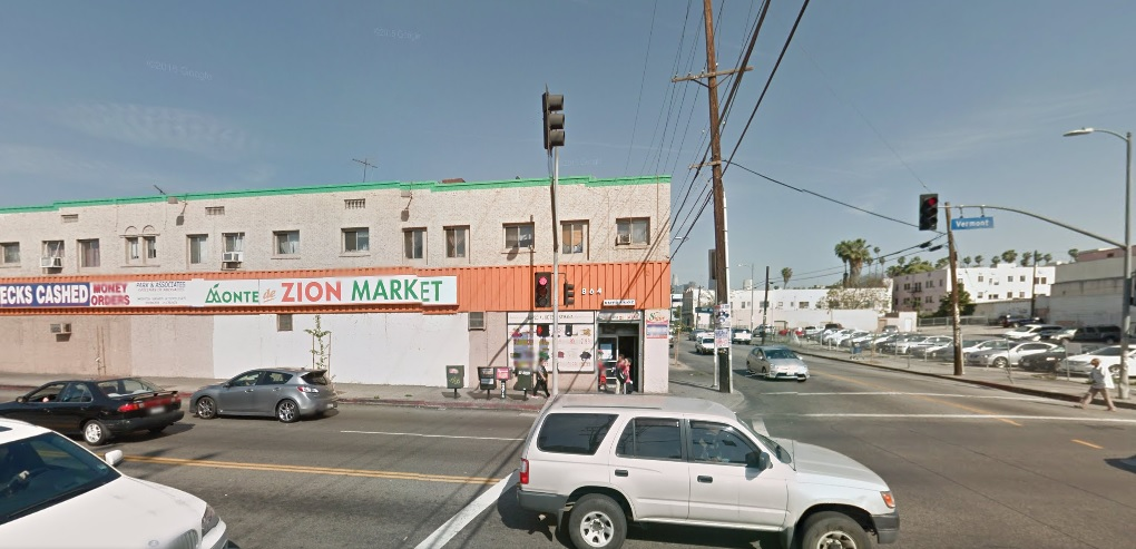 Monte de Zion sits on the corner of Vermont Avenue and James M. Wood Boulevard. (Korea Times)