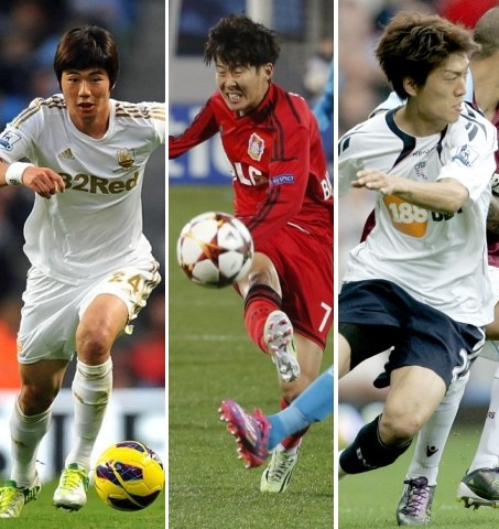 From left -- Ki Sung-yeung, Son Heung-min and Lee Chung-yong.