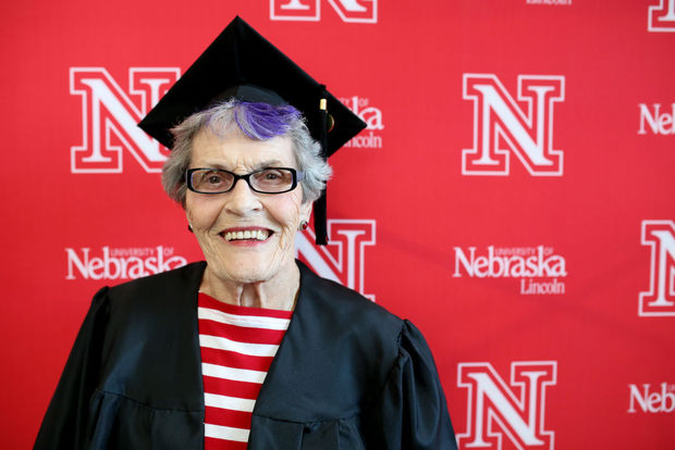 Eleanor Kops graduated from the University of Nebraska at 87 years old. (Facebook)